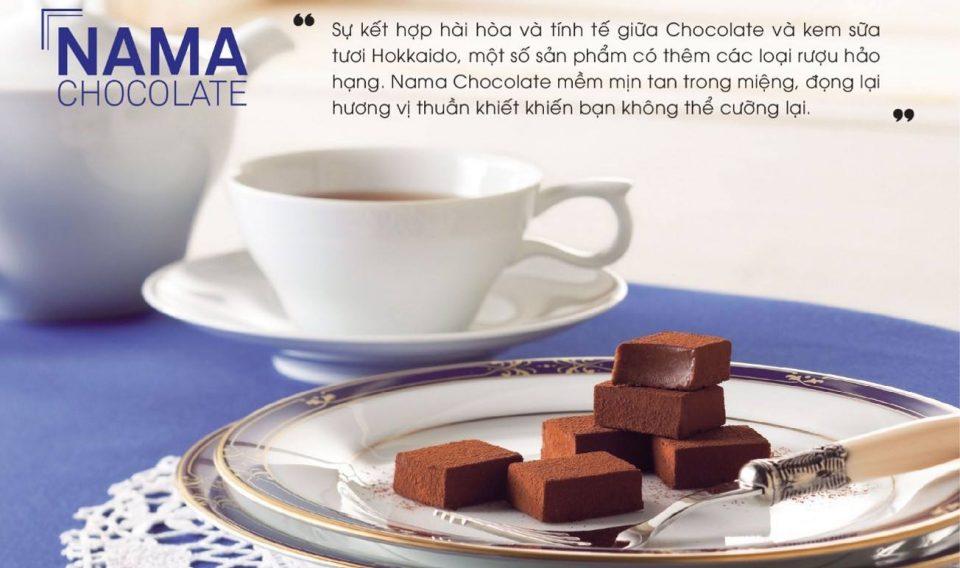chocolate nama nhật