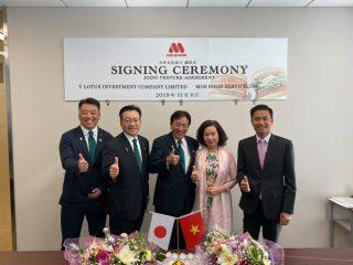 Lễ ký kết hợp tác giữa Lotus Group và Mos Burger