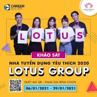 """Bình chọn Lotus Group cho giải thưởng """" Nhà tuyển dụng yêu thích nhất 2020″"""